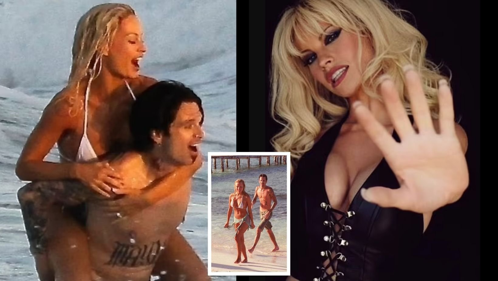 small joys thumbnail 1 15.jpg?resize=1200,630 - Lily James Splashes Around With Sebastian Stan To Recreate Pam & Tommy's Shocking Beach Wedding In 1995