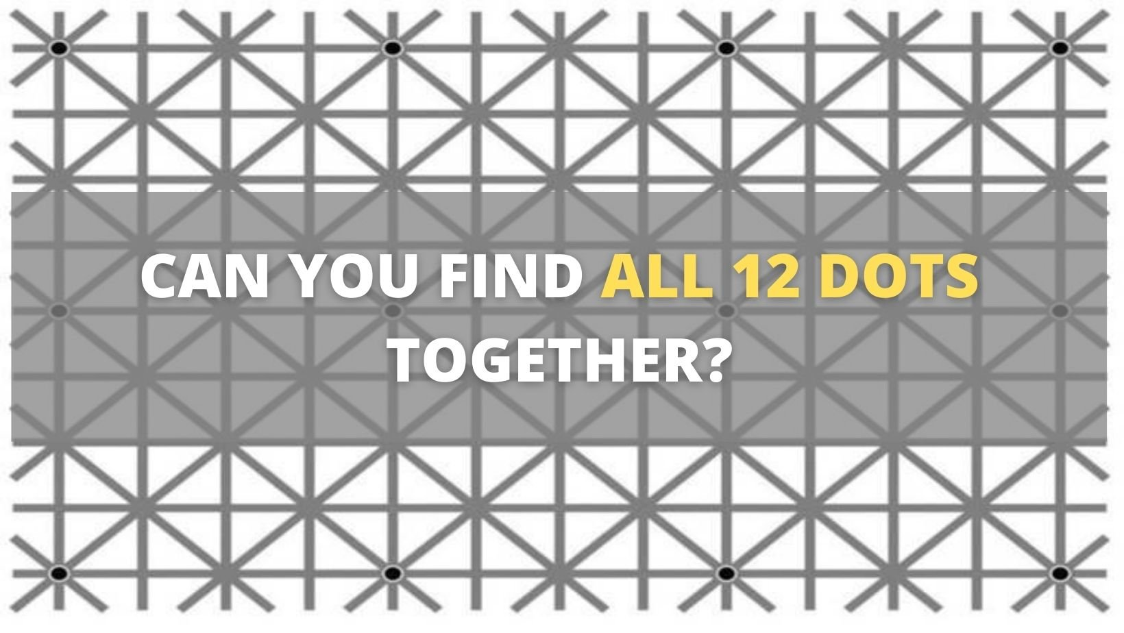 small joys thumbnail 2 5.jpg?resize=1200,630 - We Bet That You Can't See ALL 12 DOTS In This Image