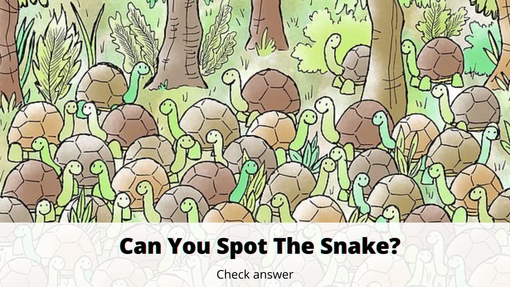 small joys thumbnail 6 2.jpg?resize=1200,630 - Can You Find The Snake Among The Turtles?