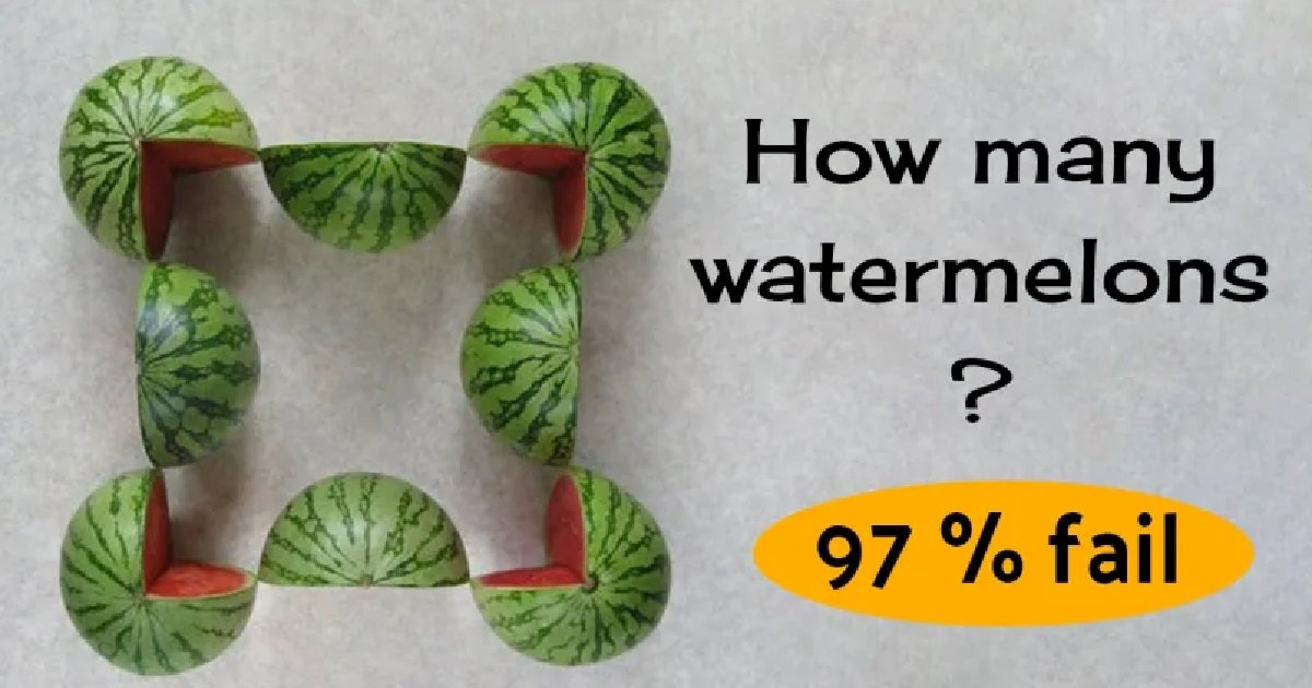 source timelesslife info 3 3.jpg?resize=1200,630 - How Many Watermelons Are In This Picture?