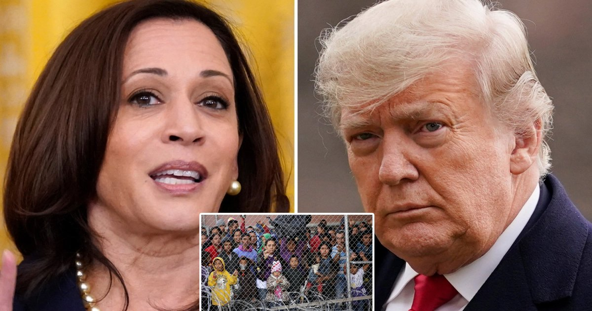 t1 44.jpg?resize=412,232 - Trump Trolls Kamala Harris For FINALLY Visiting Border After He Announced His OWN Trip
