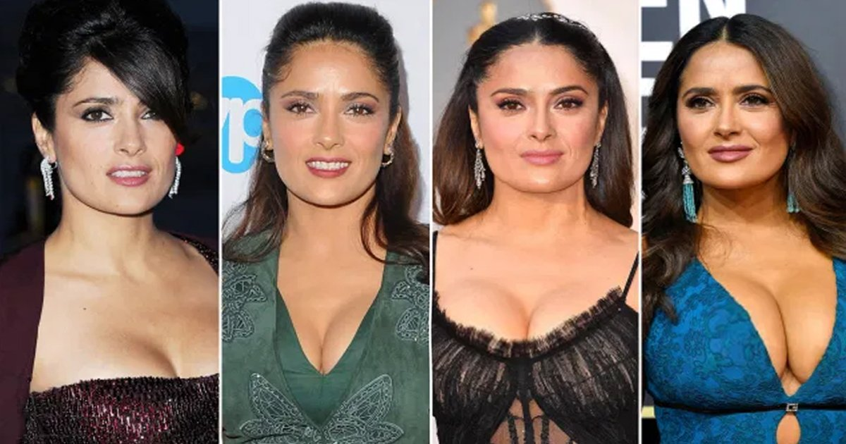 t3 44.jpg?resize=1200,630 - Actress Salma Hayek Reveals Her B*obs 'Keep Growing A Lot' But They're 100% Natural