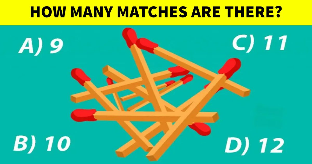 t4 46.jpg?resize=412,232 - How Fast Can You Count The Correct Number Of Matches In This Image?