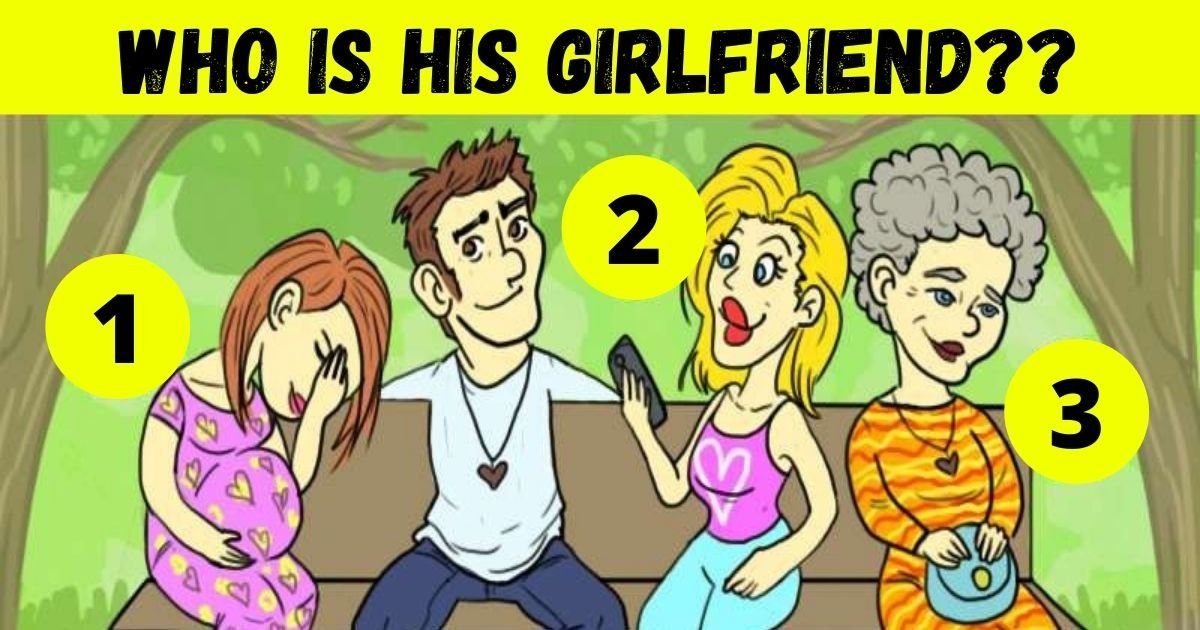 who is his girlfriend.jpg?resize=412,232 - How Fast Can You Find Out Who Is The Man's Girlfriend? 90% Of People Can't See The Hidden Clue!