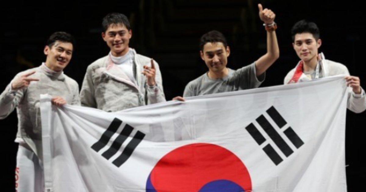 20210728201907 1.png?resize=412,232 - (속보) 도쿄올림픽 '어벤저스' 한국 펜싱 도쿄 첫 금, 사브르 남자 단체전 금메달 획득
