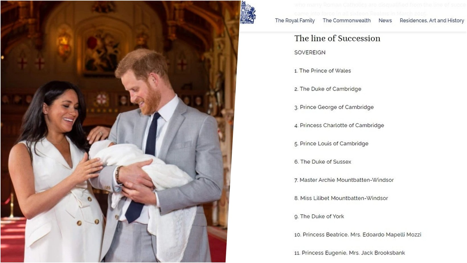 6 facebook cover 26.jpg?resize=412,232 - Lilibet Diana Is FINALLY Listed On The Royal Family's Line Of Succession, Seven Weeks After Her Birth
