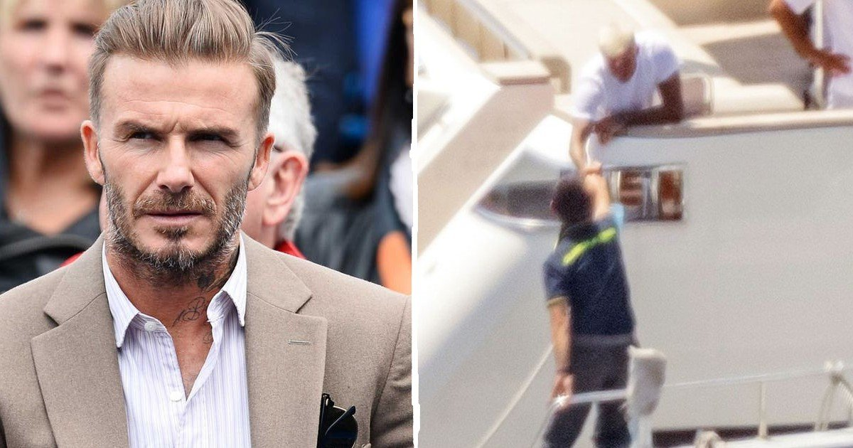 beckham fist bump thumbnail.jpg?resize=412,232 - David Beckham Caught In Talks With Italian Police – Ends With Amicable Fist-Bump