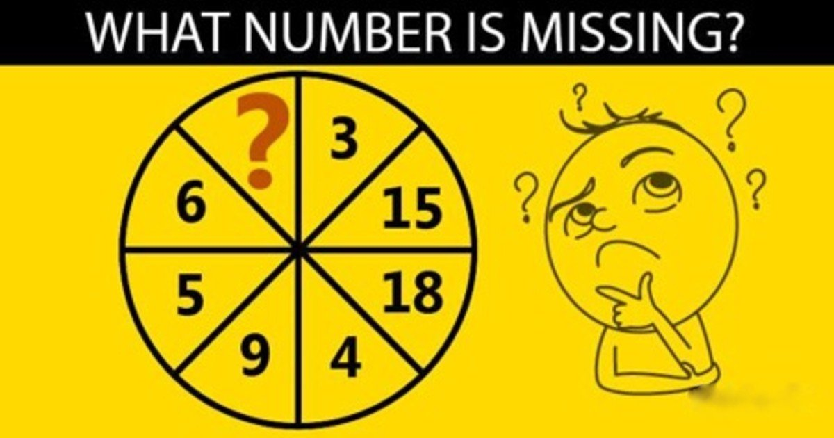 can you solve this faster than a child.jpg?resize=1200,630 - Can You Solve What Number Is Missing In This Puzzle-Wheel?