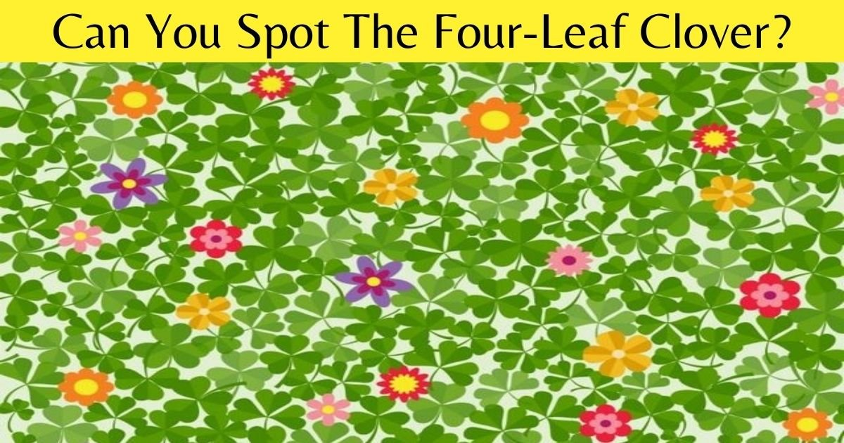 can you spot the four leaf clover.jpg?resize=1200,630 - 9 Out Of 10 People Can't See The Four-Leaf Clover! How About You?