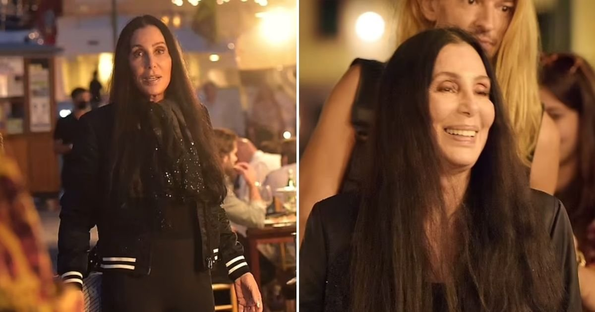 cher6.jpg?resize=1200,630 - Cher, 75, Walks Barefoot After Struggling In Her Troublesome Shoes As She Showcases Her Ageless Physique