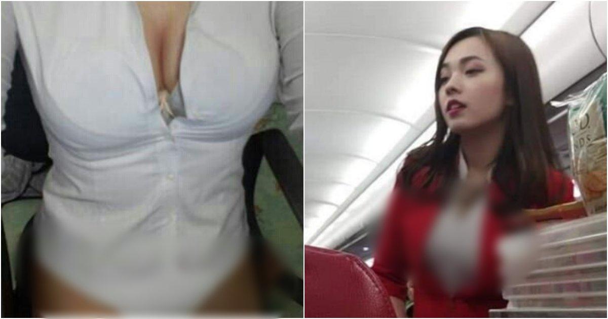 collage 135.png?resize=1200,630 - 심각하게 다 보여서 여성들이 적나라하다는 이유로 컴플레인 넣은 여승무원 '유니폼' 착용 모습