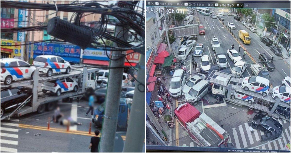 collage 475.png?resize=1200,630 - 오늘(20일) 여수서 대형참사, 길가에 사람들 아수라장 도로엔 핏자국 (+사진)