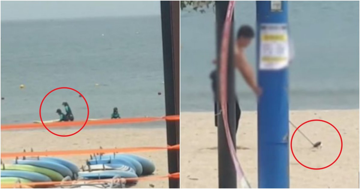 "collage 773.png?resize=1200,630 - ""울산 진하 해수욕장 XXX 골프남"" 바다에 피서객이 있는 채로, 골프 연습한 남성(+사진)"