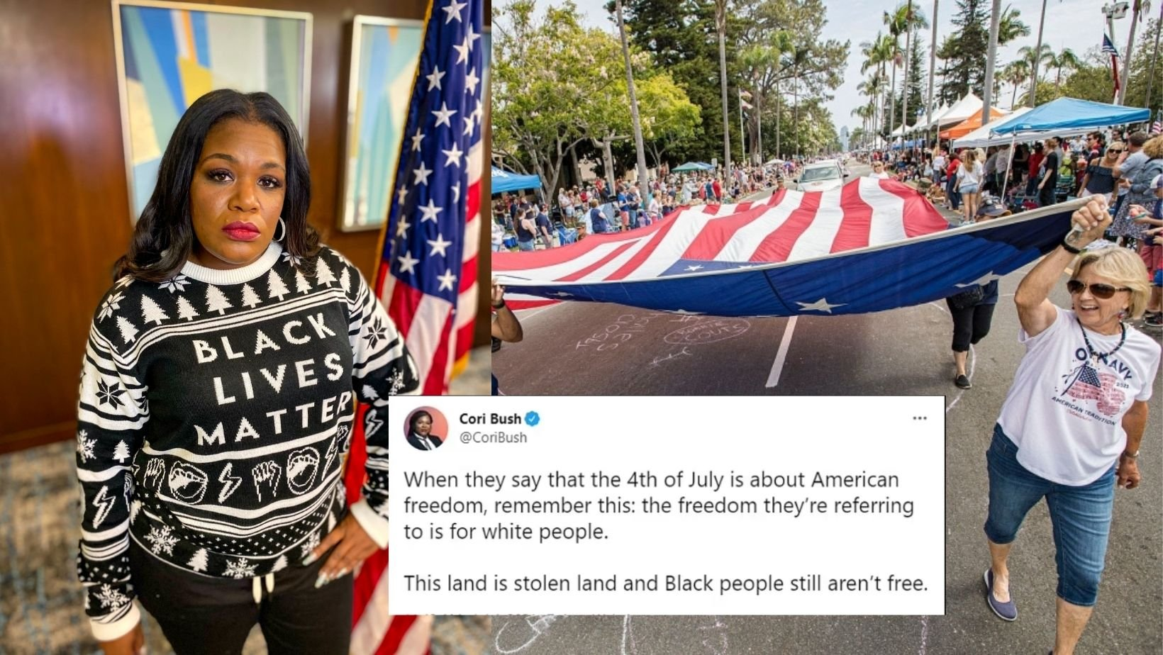 cover 3.jpg?resize=1200,630 - Congresswoman Cori Bush Sparks Outrage After Tweeting That 4th Of July Was Only A Holiday For Caucasians
