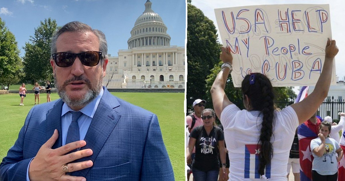 cuba protests outside capitol.jpg?resize=1200,630 - Republican Officials Join 'Free Cuba' Protests Outside The Capitol Saying 'Liberty Will Prevail'