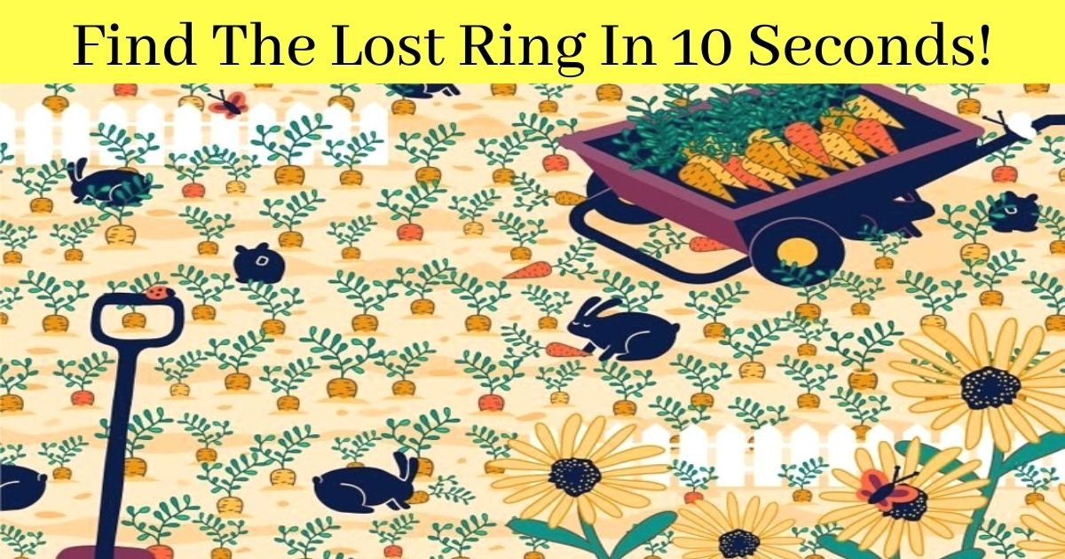 find the lost ring in 10 seconds.jpg?resize=1200,630 - 90% Of People Couldn't Spot The Ring Hiding Among The Carrots! But Can You?