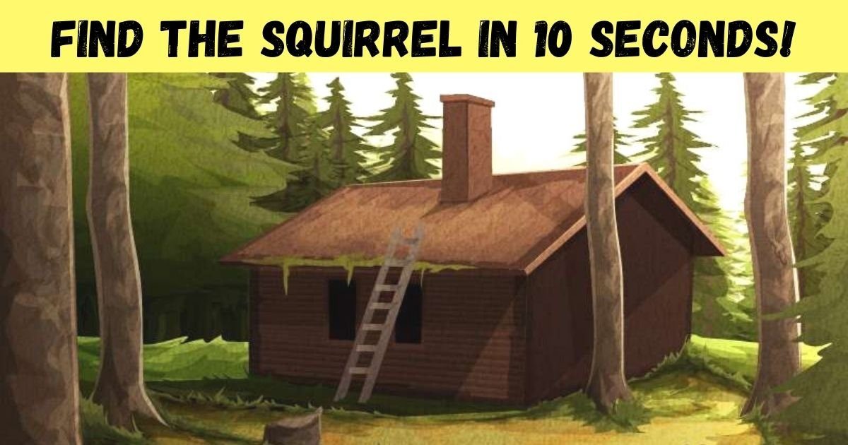 find the squirrel in 10 seconds.jpg?resize=1200,630 - 90% Of Viewers Couldn't Spot The Squirrel In This Vintage Graphic! How About You?