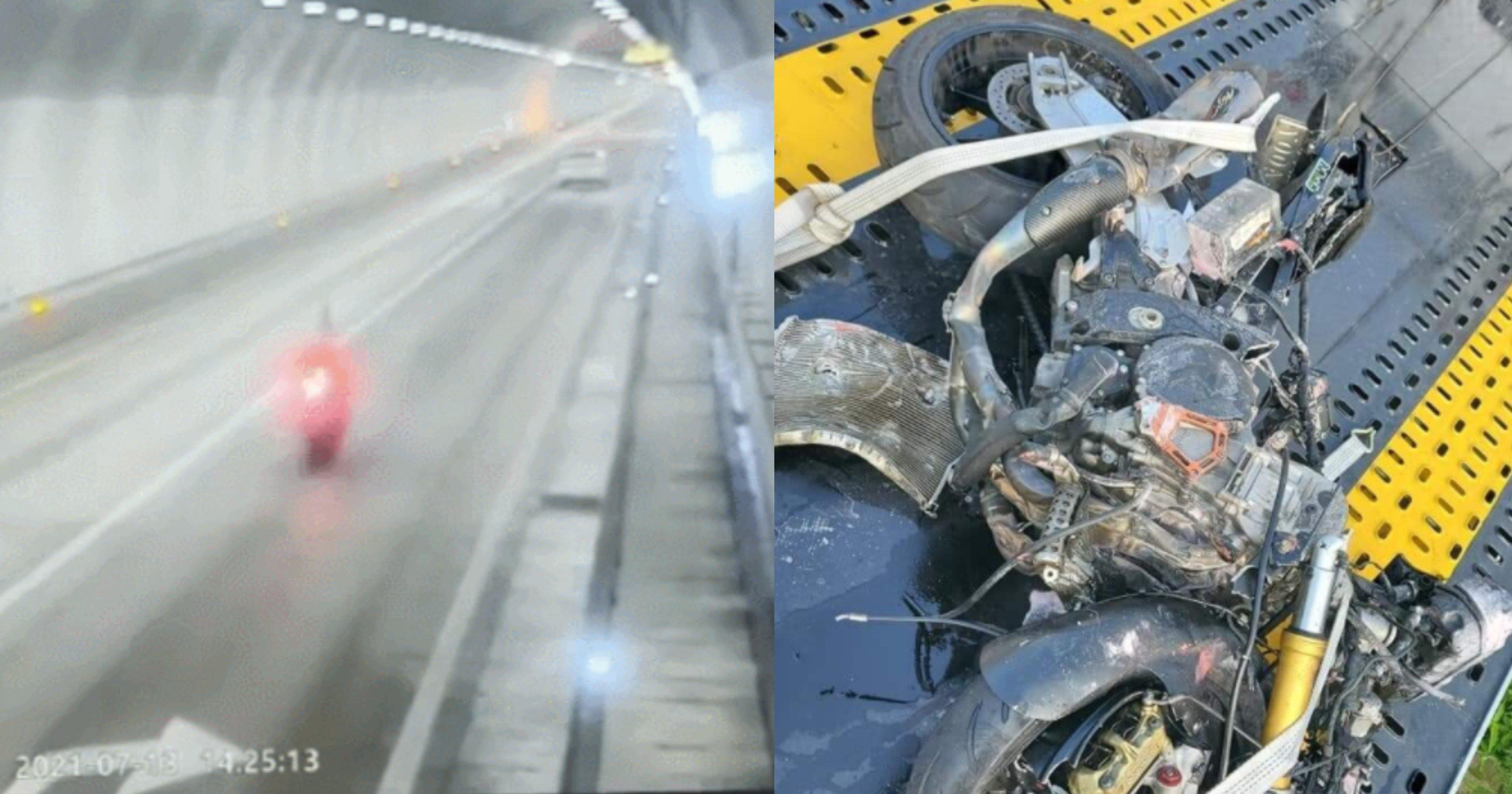 img 197dbfbed2f9 1.jpeg?resize=1200,630 - 최근 미시령에서 벌어진 오토바이 사고 블랙박스 사진