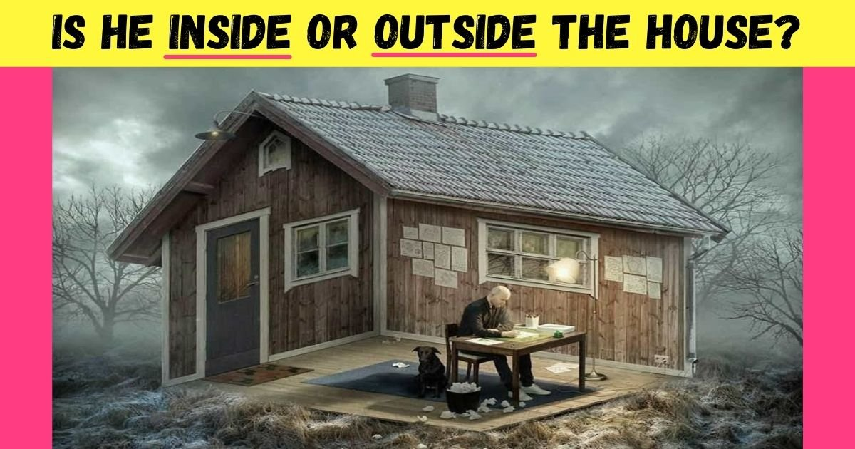 is he inside or outside the house.jpg?resize=1200,630 - Is He Inside Or Outside: How Fast Can You Figure Out This Viral Optical Illusion?