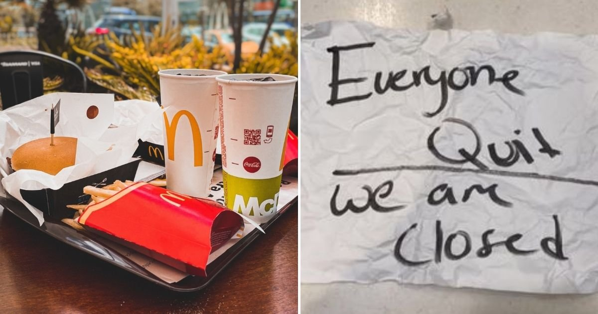 mcdo5.jpg?resize=1200,630 - Entire Crew Of McDonald's Workers Quit In The Middle Of Their Shift Saying 'It Was A Terrible Work Space'