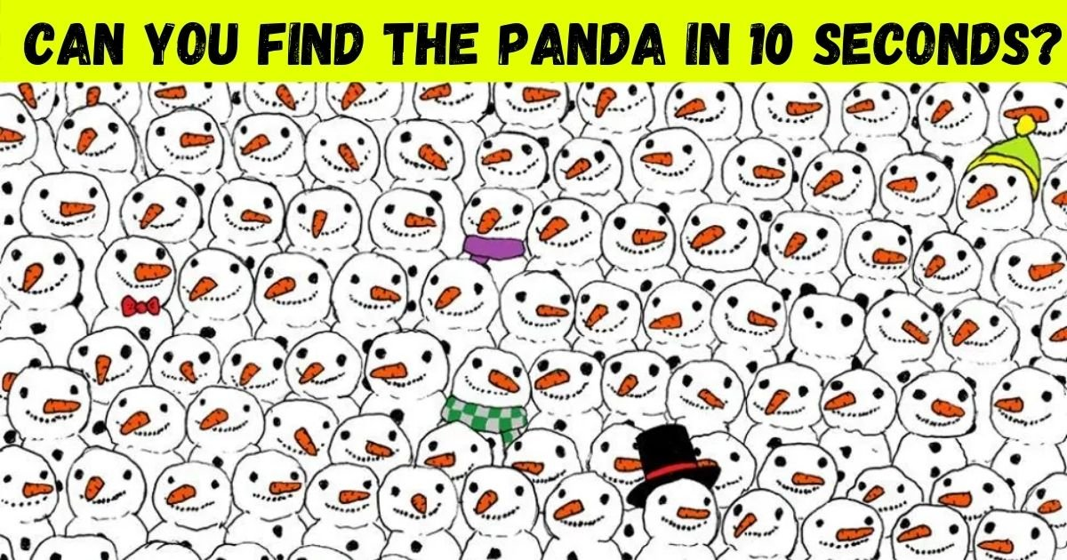 panda.jpg?resize=1200,630 - 90% Of People Couldn't Spot The Hidden Panda Among Snowmen! But Can You Find It?