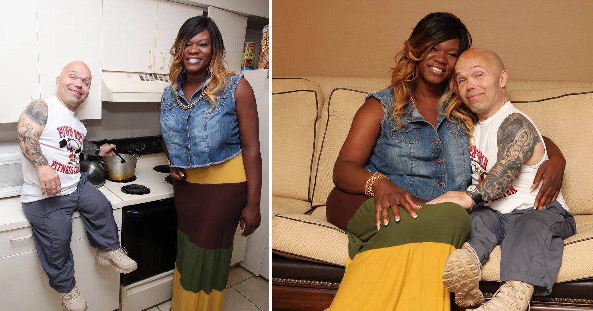 "q1 45.jpg?resize=1200,630 - Opposites Attract   Dwarf Bodybuilder Falls In Love With 6'3"" Transgender Woman"