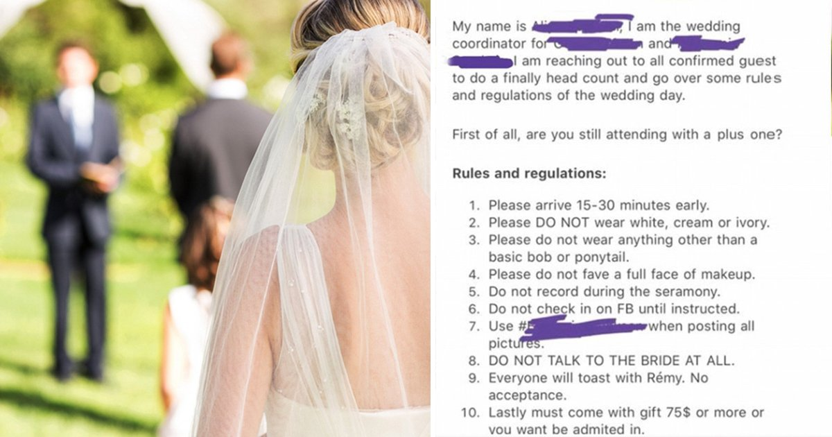 """q5 1.jpg?resize=1200,630 - """"DO NOT Talk To Me At All""""- Bride Shares Bizarre Demands For Guests At Wedding"""
