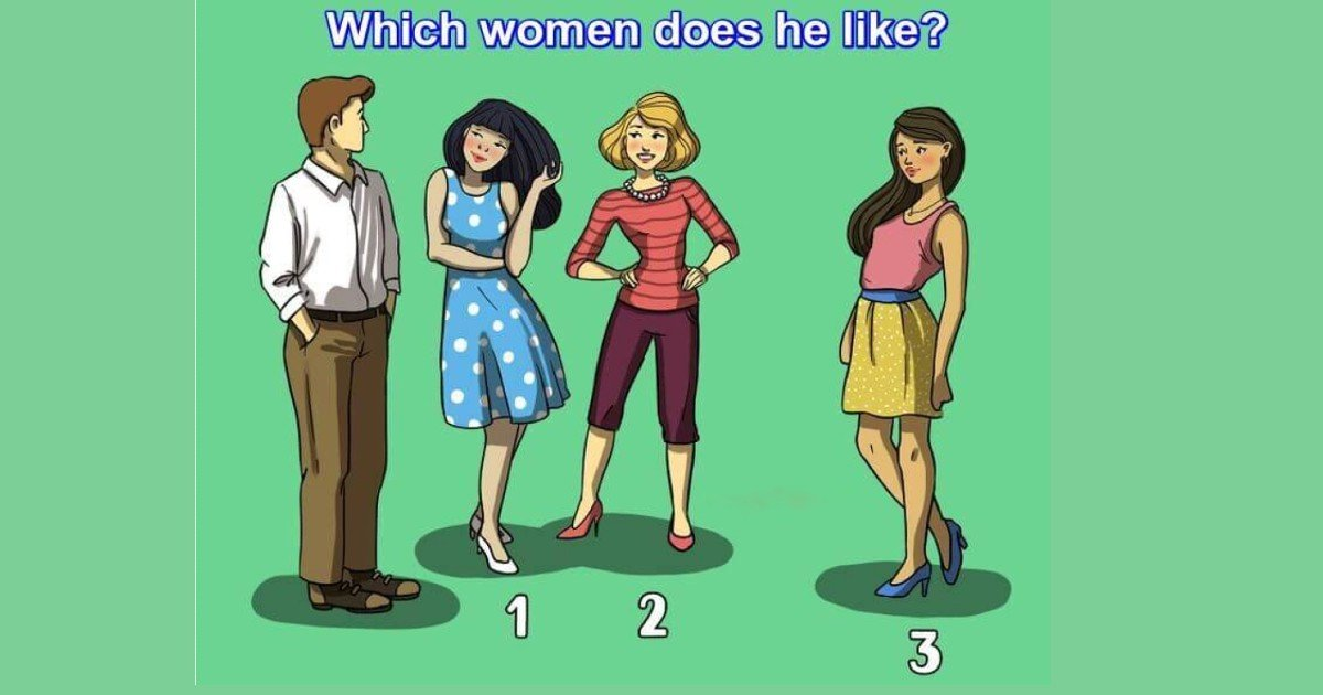 quiz1 gpuzzles thumbnail.jpg?resize=412,232 - Are You Observant Enough To Tell Which Woman This Man Likes?