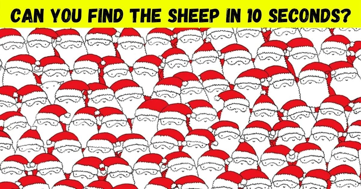 sheep3.jpg?resize=1200,630 - 9 Out Of 10 Can't Find The Sheep In A Sea Of Santa Clauses! But Can You Spot It?
