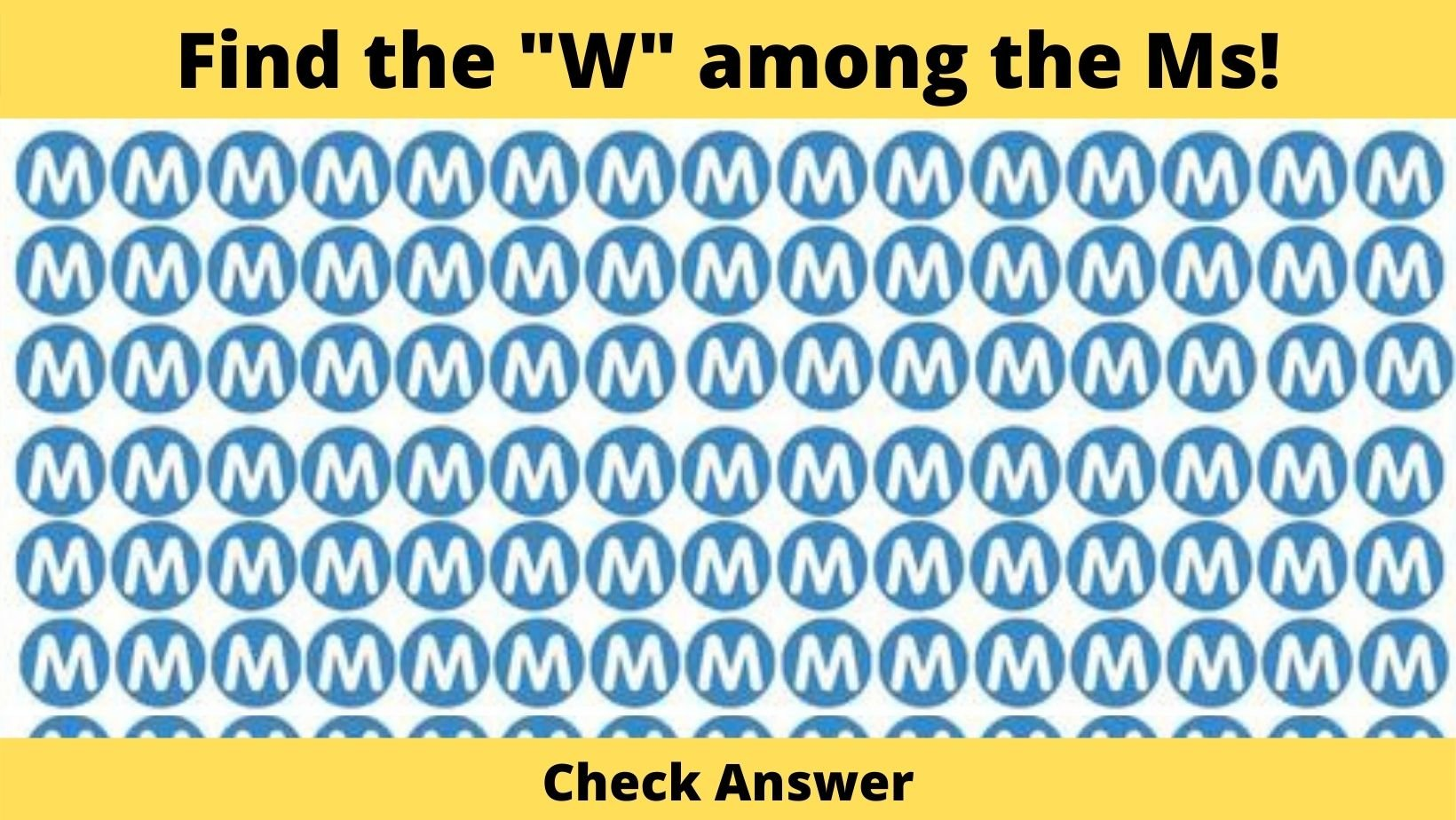"""small joys thumbnail 2 5.jpg?resize=412,275 - Only 7% Of The Population Can Find The """"W"""" Among The Ms In Thirty Seconds, Are You One Of Them?"""