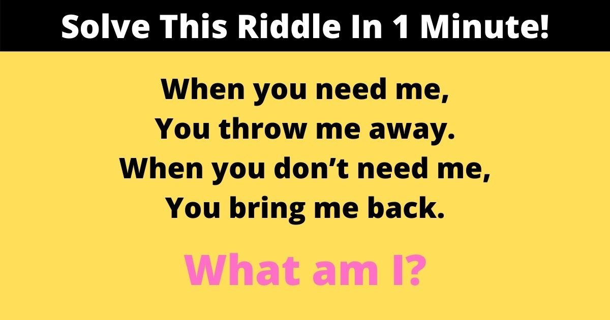 solve this riddle in 1 minute.jpg?resize=412,232 - 95% Of Viewers Couldn't Solve This Riddle In 1 Minute! How About You?