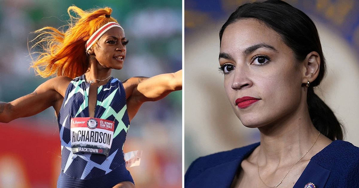 t1 53.jpg?resize=412,232 - Rep. AOC Blames 'Racism' After US Olympian Sha'Carri SUSPENDED For Failing Drug Test