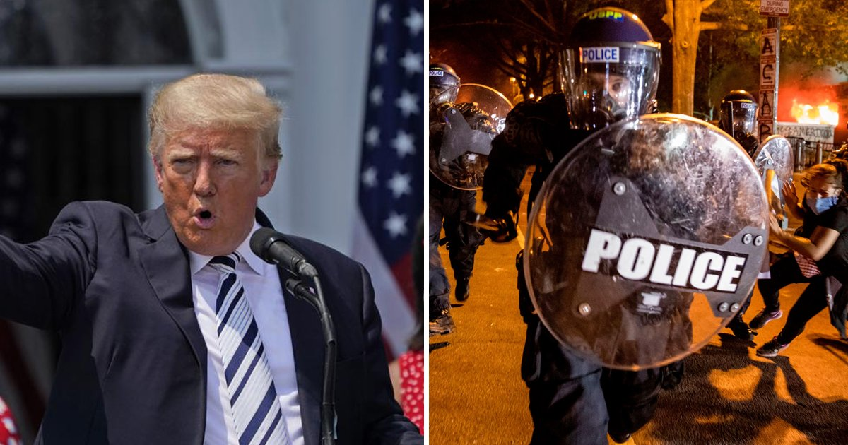 """t1 63.jpg?resize=1200,630 - """"You Need To Give Police Back Their Authority""""- Trump Slams Democratic Cities For Violence Surge"""