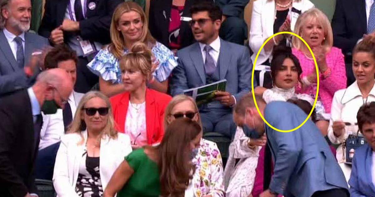 t1 65.jpg?resize=1200,630 - Twitter Abuzz As Video Shows Priyanka Chopra IGNORING William & Kate At Wimbledon