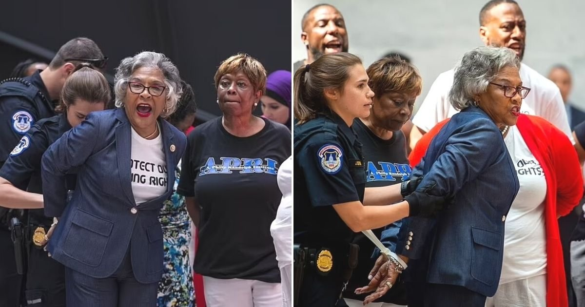 untitled design 12.jpg?resize=1200,630 - Congresswoman Joyce Beatty ARRESTED During Voting Rights Protest