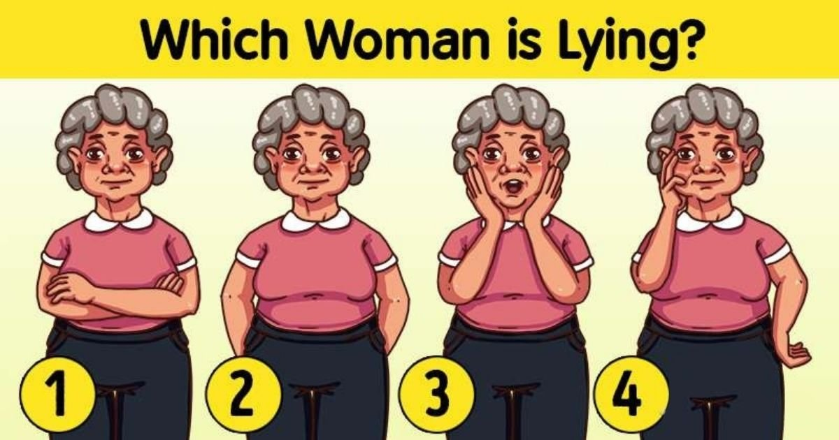 untitled design 2 1.jpg?resize=1200,630 - Can You Figure Out Which Of These Women Is Lying? Look Closely To Reveal The Answer!