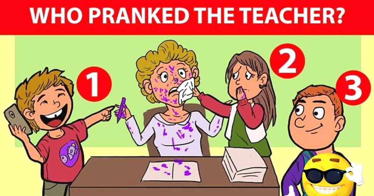 untitled design 9.jpg?resize=412,232 - How Fast Can You Find Out Who Pranked The Teacher? Look Closely To See The Hidden Clues!