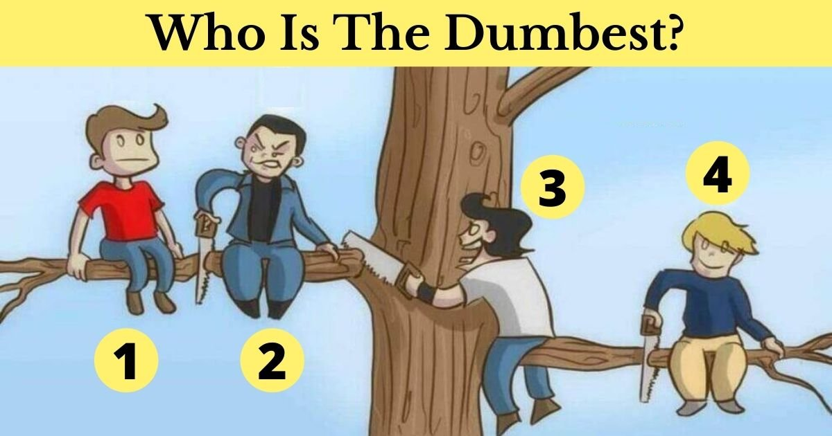 who is the smartest.jpg?resize=412,232 - Which Of These Guys Is The Dumbest? Look Closely At What They're Doing Before You Answer!