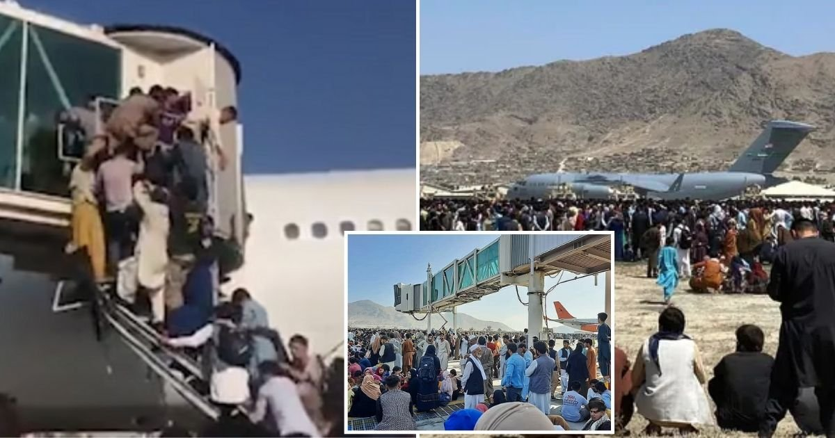 airport.jpg?resize=1200,630 - At Least Eight People Dead In Kabul Airport, Including Three Stowaways Who Fell From US Air Force Plane Engines