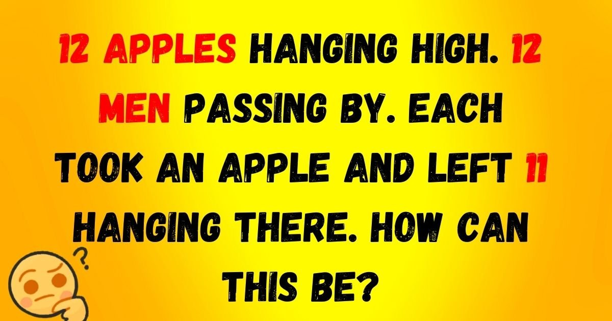 apples.jpg?resize=412,232 - Brain Test: Only 1 In 10 Viewers Can Solve All FIVE Riddles! Can You Do It?