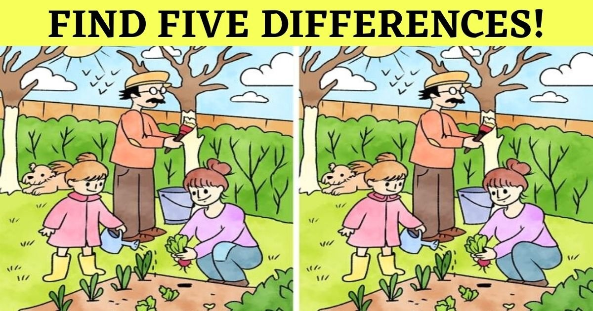 find five differences.jpg?resize=412,232 - How Quickly Can You Spot All Five Differences In This Picture?