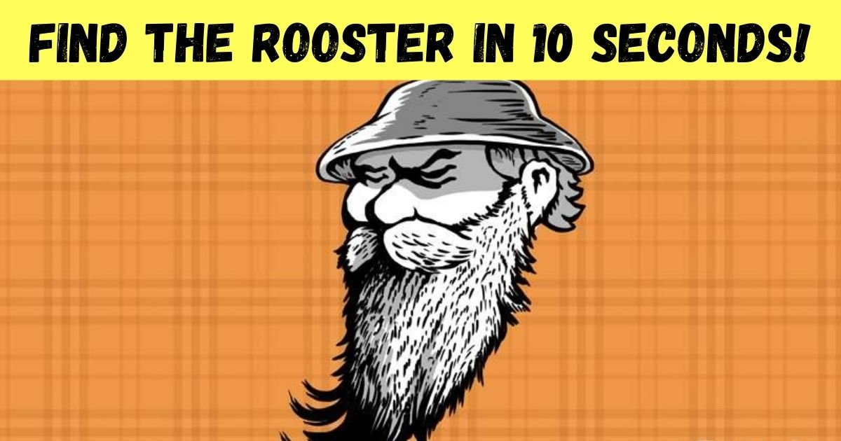 find the rooster in 10 seconds.jpg?resize=412,232 - 90% Of People Couldn't See The Rooster In This Portrait Of A Man! How About You?