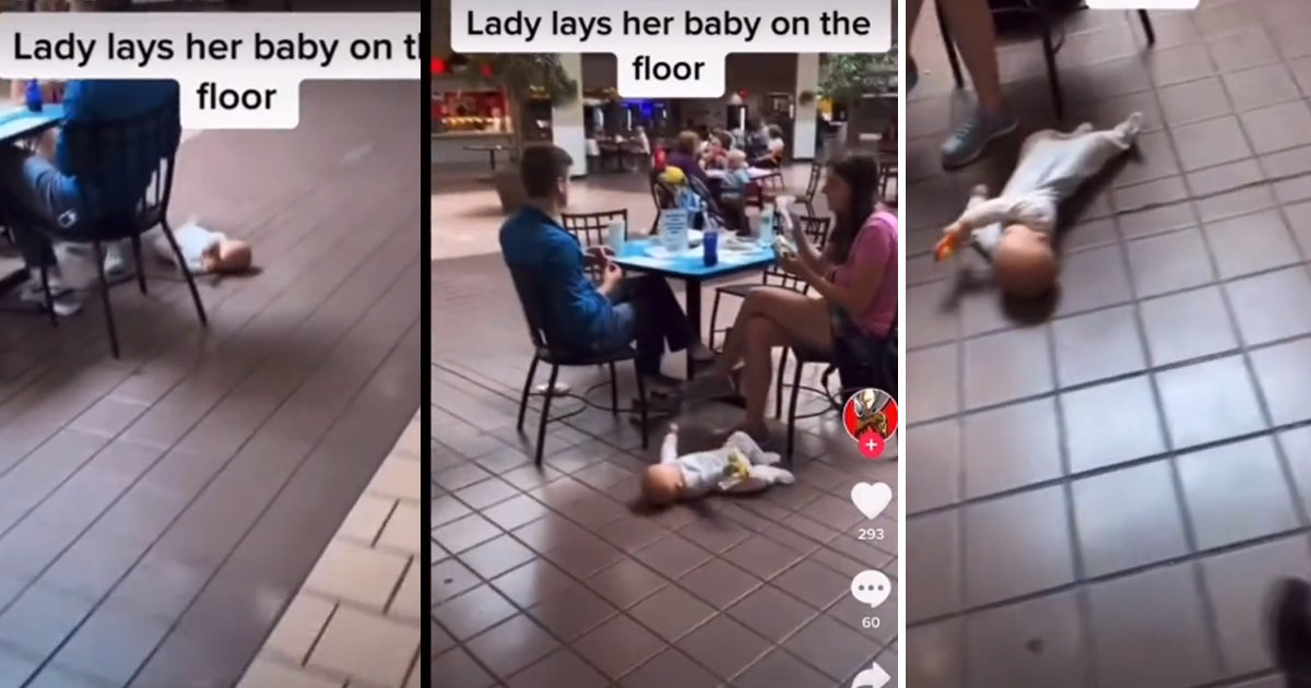 q5 12.jpg?resize=1200,630 - Shoppers Stunned As Parents DUMP 'Flailing' Baby On Food Court Floor As They Eat