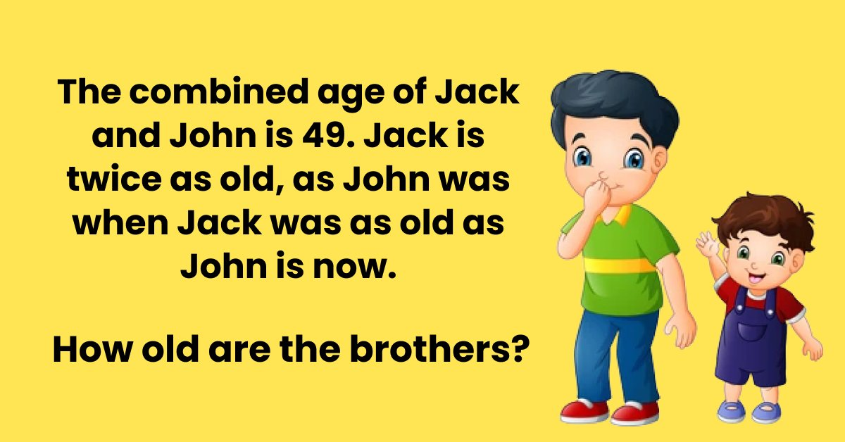 sj thumbnail.png?resize=1200,630 - Tricky Riddle For You: How Old Are The Brothers?