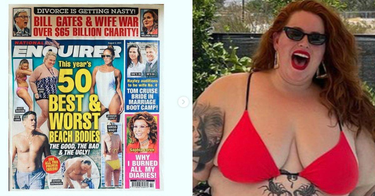 "t3 76.jpg?resize=1200,630 - ""I'm Hot AF!""- Plus Size Model Tess Holliday BLASTS Critics For 'Worst Beach Body' Award"