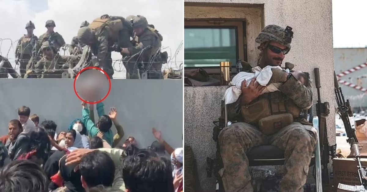 untitled design 12 3.jpg?resize=1200,630 - Newborn Baby That Was Handed Over To Soldiers By Crying Afghan Mom Was Returned To Her Father
