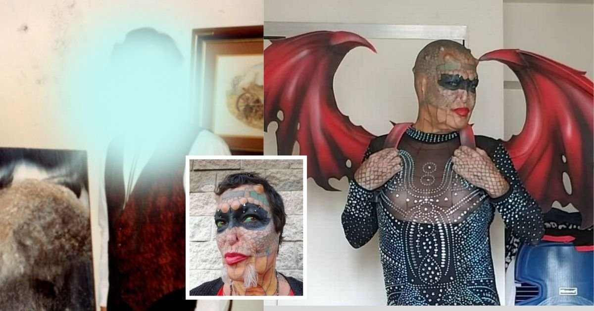 1 76.jpg?resize=1200,630 - Former Banker Who Spent Thousands Of Dollars To Become The First 'Human Dragon' Reveals A Photo Of What They Used To Look Like
