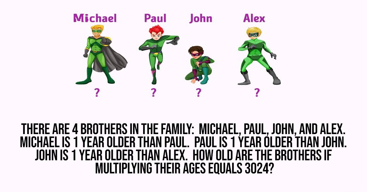 4 62.jpg?resize=412,232 - Can You Crack The Code To The Mystery & Figure Out How Old These Boys Are?