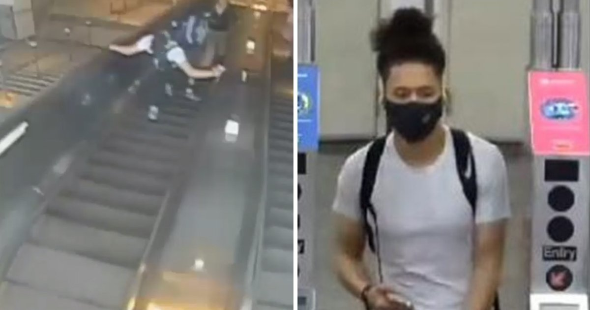 5 46.jpg?resize=1200,630 - Heartless Man Who Viciously KICKED Woman Down Subway Station Escalator In Brooklyn Arrested