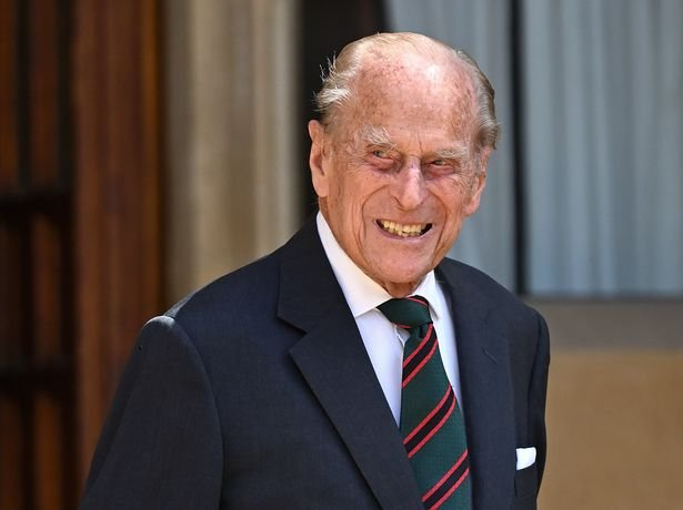 Prince Philip, Duke of Edinburgh (wearing the regimental tie of The Rifles) attends a ceremony to mark the transfer of the Colonel-in-Chief of The Rifles from him to Camilla, Duchess of Cornwall at Windsor Castle on July 22, 2020